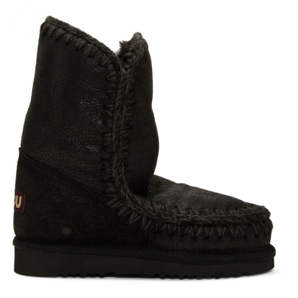 ムー Mou レディース ブーツ シューズ・靴【Black 24 Mid-Calf Boots】Black