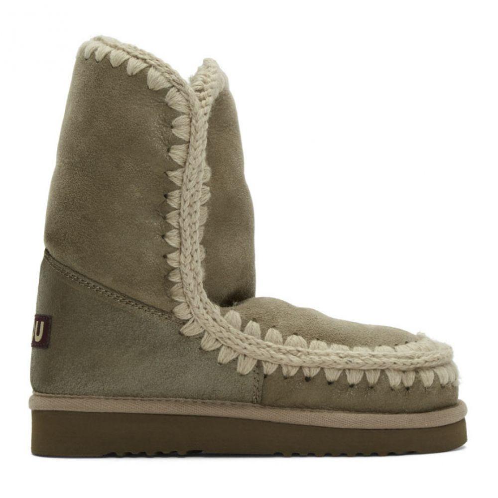 ムー Mou レディース ブーツ シューズ・靴【Taupe 24 Mid-Calf Boots】Dust grey
