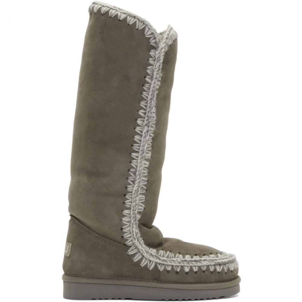 ムー Mou レディース ブーツ シューズ・靴【Grey 40 Tall Boots】New grey