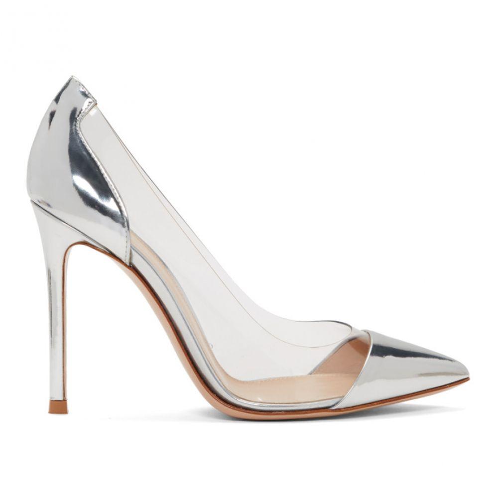 ジャンヴィト ロッシ Gianvito Rossi レディース ヒール シューズ・靴【Silver & Gold Patent Plexi 105 Heels】Silver/Gold