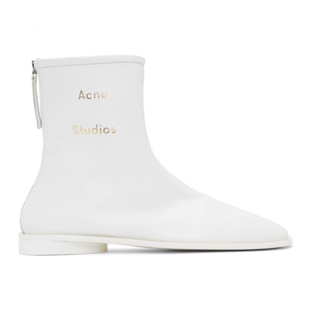 アクネ ストゥディオズ Acne Studios レディース ブーツ ショートブーツ シューズ・靴【SSENSE Exclusive White Berta Ankle Boots】White