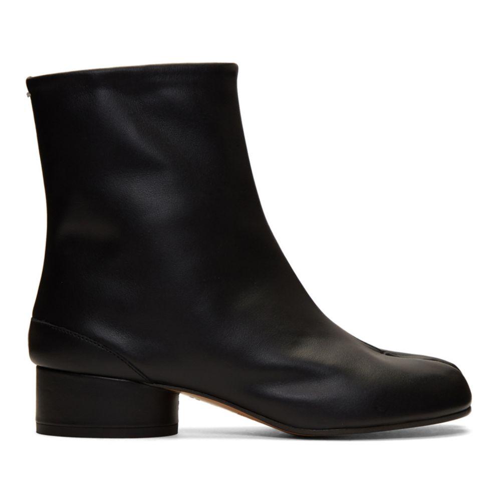 メゾン マルジェラ Maison Margiela レディース ブーツ シューズ・靴【Black Low Heel Tabi Boots】Black