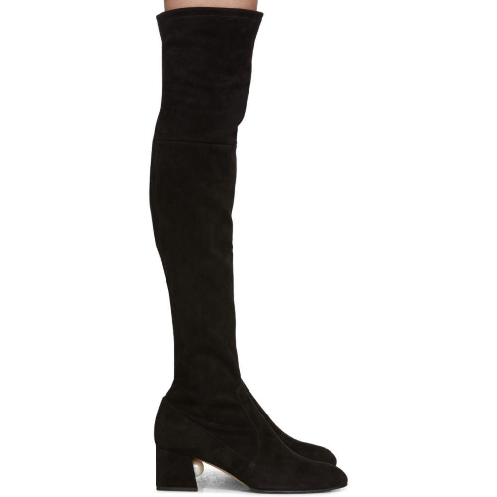 ニコラス カークウッド Nicholas Kirkwood レディース ブーツ シューズ・靴【Black Suede Miri Over-The-Knee Boots】Black