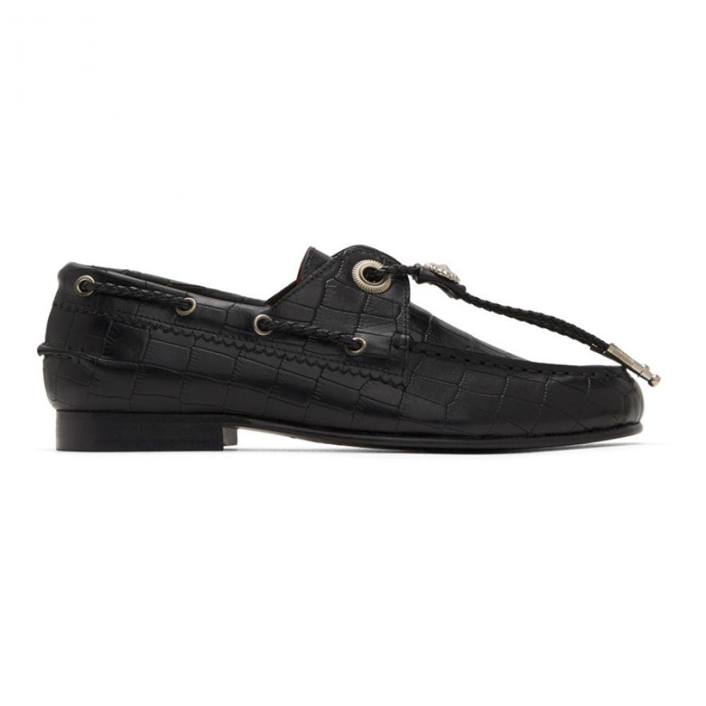 トーガ Toga Pulla レディース ローファー・オックスフォード コンチョ シューズ・靴【Black Croc Concho Loafers】Black