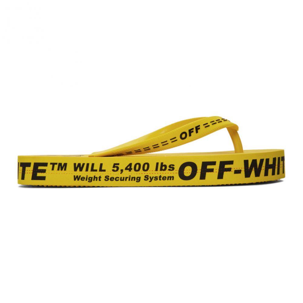 オフホワイト Off-White レディース ビーチサンダル シューズ・靴【Yellow Logo Flip Flops】Yellow