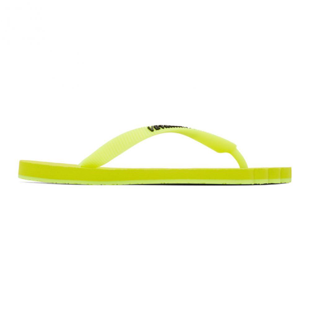 ヴェトモン VETEMENTS レディース ビーチサンダル シューズ・靴【Yellow Anatomic Logo Flip Flops】Fluo yellow