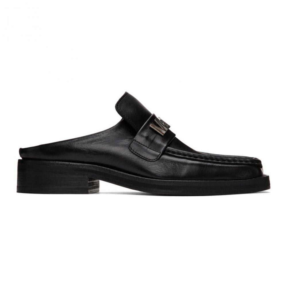 マーティン ローズ Martine Rose レディース ローファー・オックスフォード シューズ・靴【SSENSE Exclusive Black Leather Loafers】Black