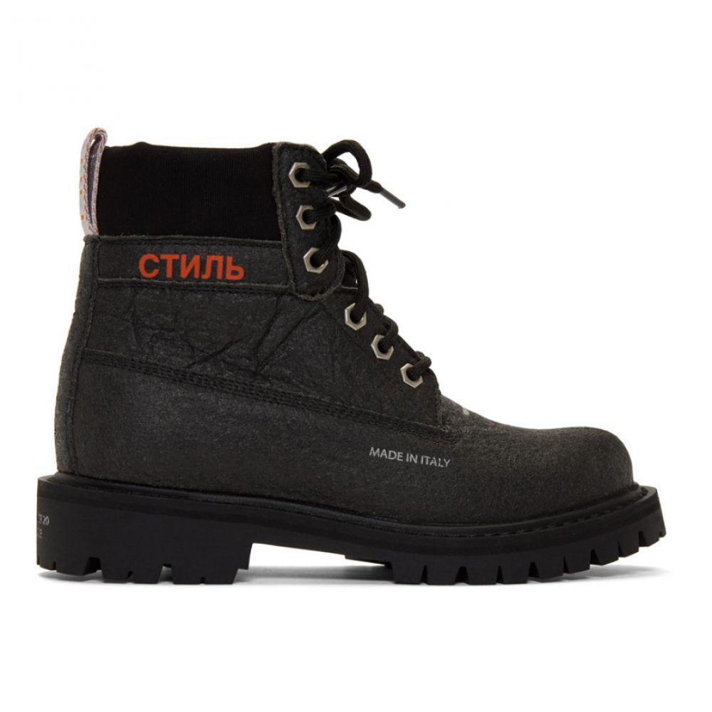 ヘロン プレストン Heron Preston レディース ブーツ シューズ・靴【Black Recycled LH Worker Boots】Black