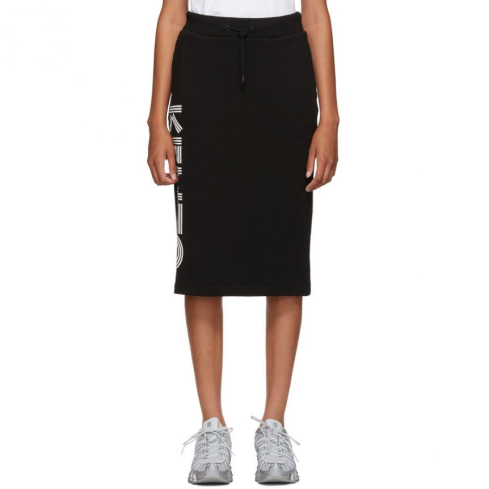 ケンゾー Kenzo レディース ひざ丈スカート スカート【Black Logo Sport Jog Midi Skirt】Black
