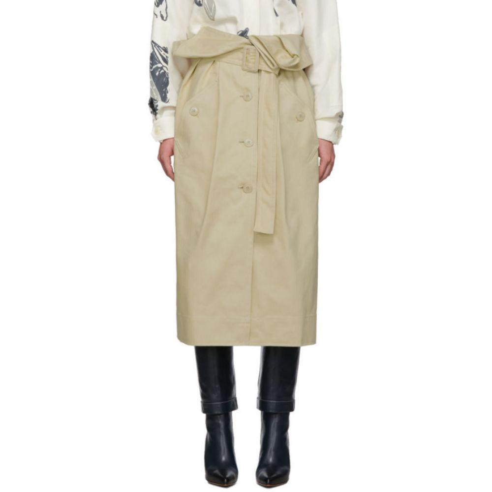 ジャックムス Jacquemus レディース ひざ丈スカート スカート【Beige 'La Jupe Manteau' Skirt】Beige