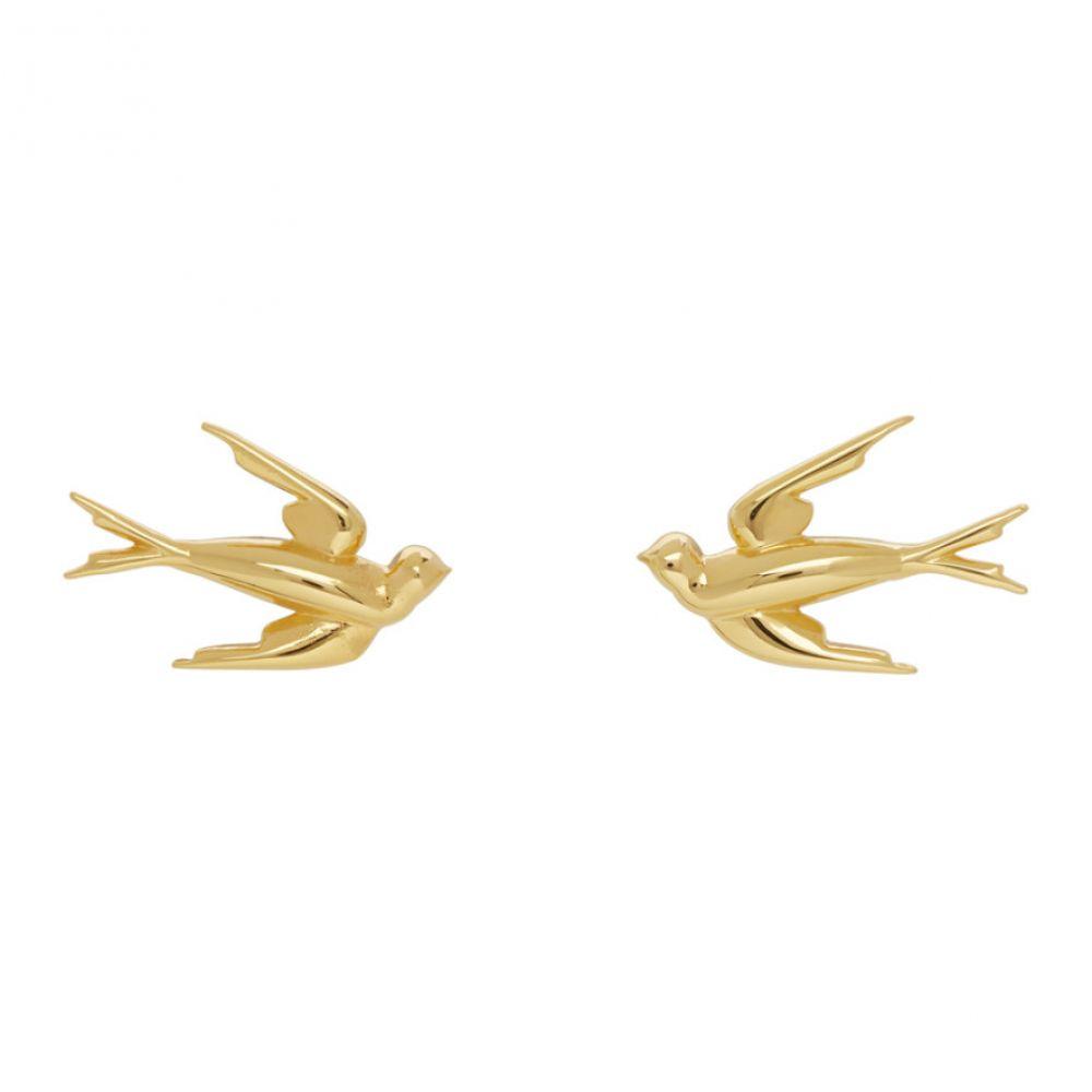 アレキサンダー マックイーン McQ Alexander McQueen レディース イヤリング・ピアス ジュエリー・アクセサリー【Gold Swallow Stud Earrings】Gold
