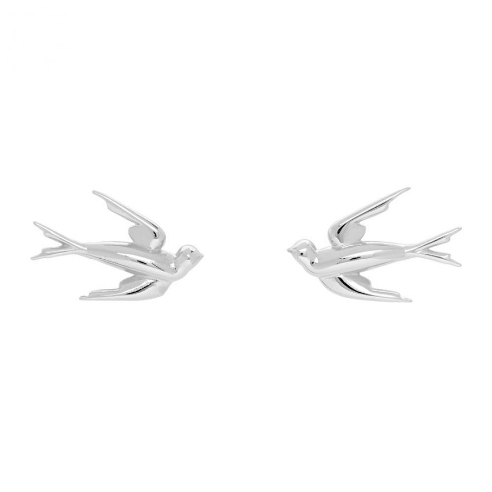 アレキサンダー マックイーン McQ Alexander McQueen レディース イヤリング・ピアス ジュエリー・アクセサリー【Silver Swallow Stud Earrings】Silver