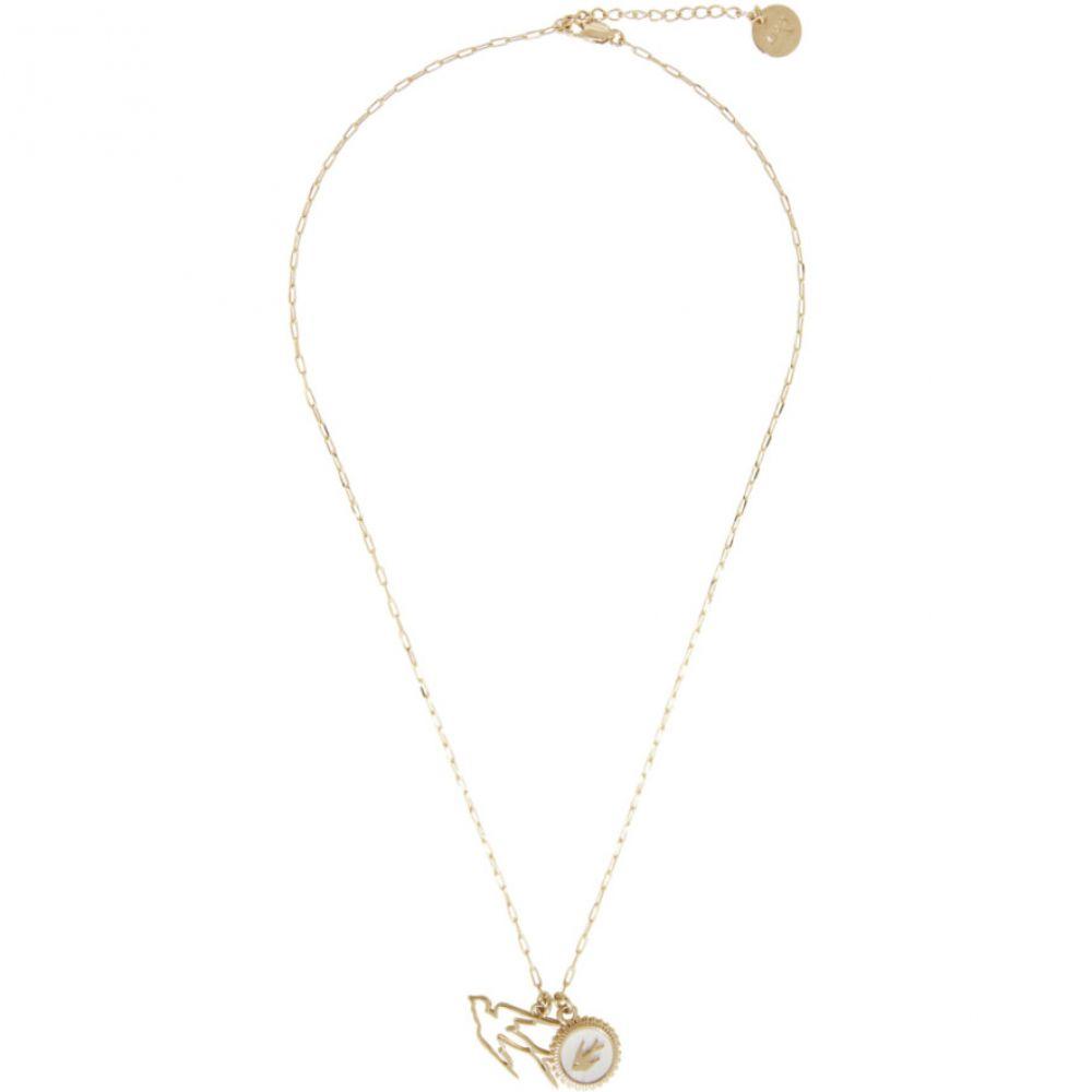 アレキサンダー マックイーン McQ Alexander McQueen レディース ネックレス ジュエリー・アクセサリー【Gold Double Swallow Necklace】Gold