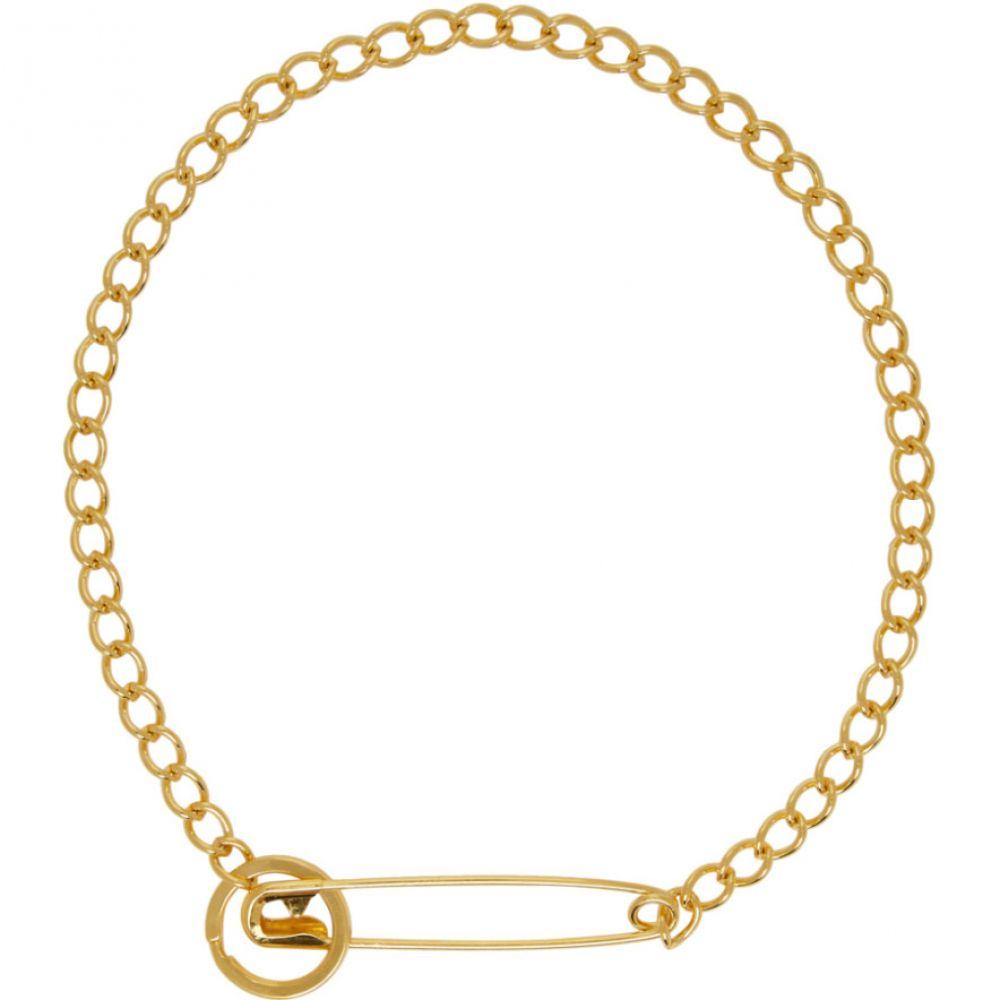 マーティンアリ Martine Ali レディース ネックレス ジュエリー・アクセサリー【SSENSE Exclusive Gold Pin Necklace】Gold