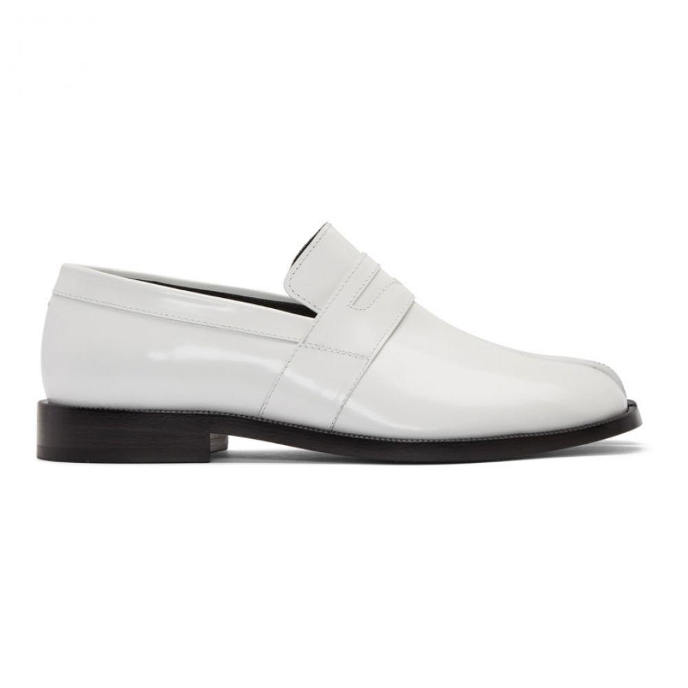 メゾン マルジェラ Maison Margiela レディース ローファー オックスフォード シューズ 靴 White Tabi Advocate Loafers White 法要 返品保証 防災