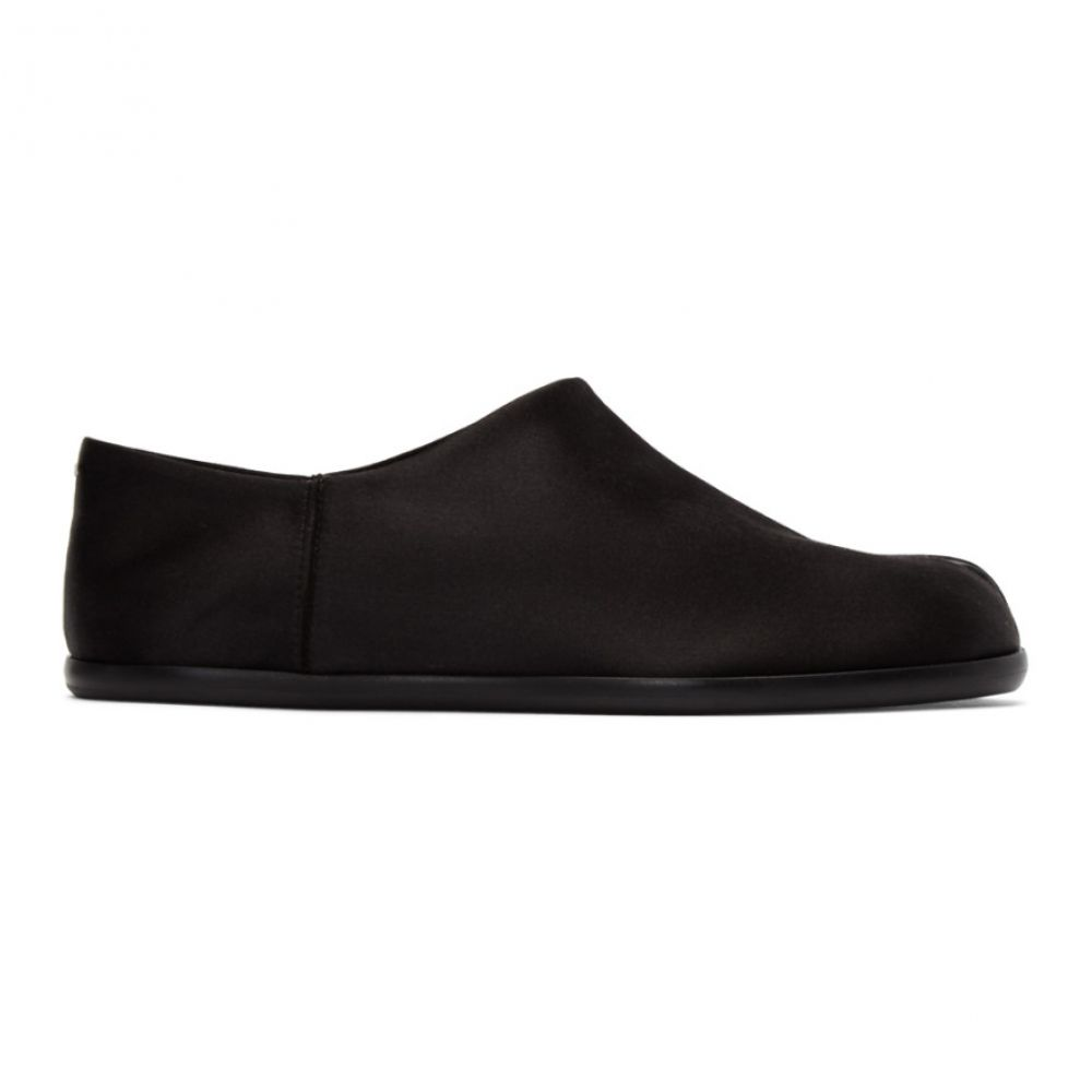 メゾン マルジェラ Maison Margiela レディース ローファー・オックスフォード シューズ・靴【Black Satin Tabi Babouche Loafers】Black