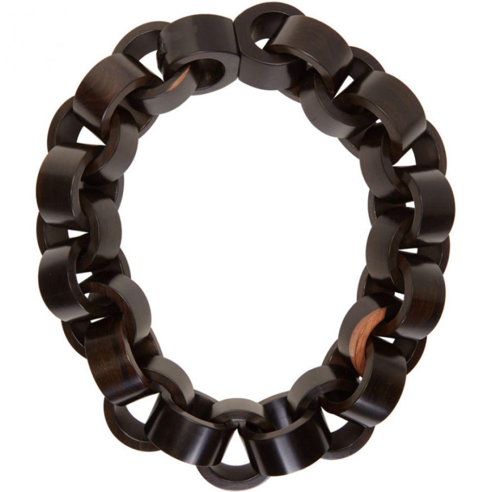 マニーズ Monies レディース ネックレス ジュエリー・アクセサリー【Brown Lizzi Necklace】Dark brown