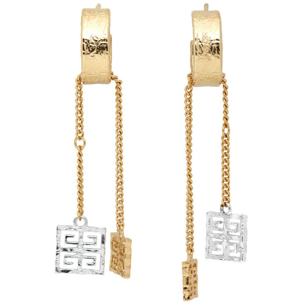 ジバンシー Givenchy レディース イヤリング・ピアス チャーム ジュエリー・アクセサリー【Silver & Gold 4G Charm Earrings】Gold