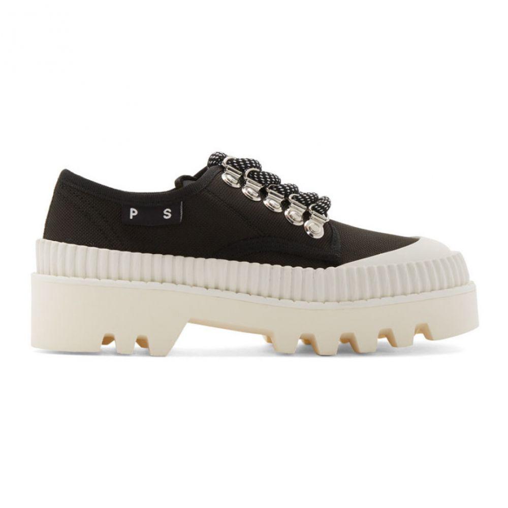 プロエンザ スクーラー Proenza Schouler レディース ローファー・オックスフォード シューズ・靴【Black & White Lug Sole Derbys】Black/White