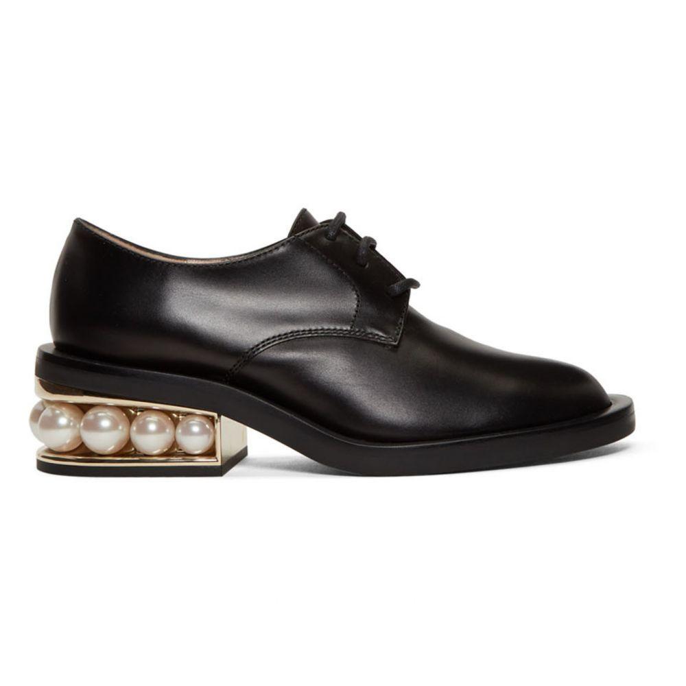 ニコラス カークウッド Nicholas Kirkwood レディース ローファー・オックスフォード シューズ・靴【Black Casati Pearl Derbys】Black