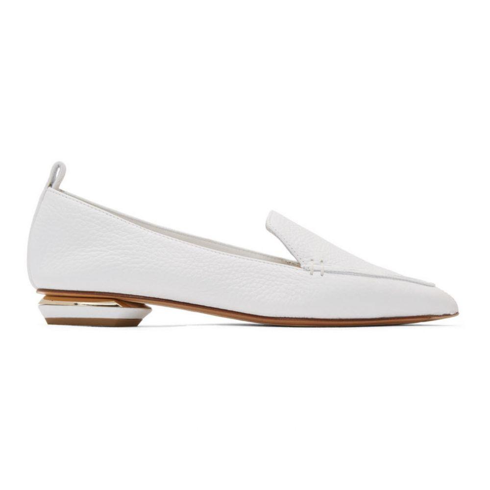 ニコラス カークウッド Nicholas Kirkwood レディース ローファー・オックスフォード シューズ・靴【White Beya Loafers】White