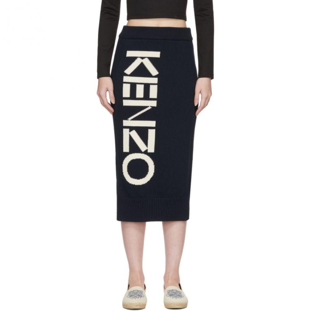 ケンゾー Kenzo レディース ひざ丈スカート スカート【Navy Logo Sport Tube Skirt】Navy