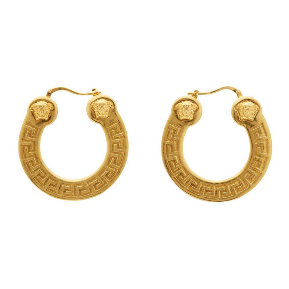 ヴェルサーチ Versace レディース イヤリング・ピアス ジュエリー・アクセサリー【Gold Horseshoe Hoop Earrings】Gold