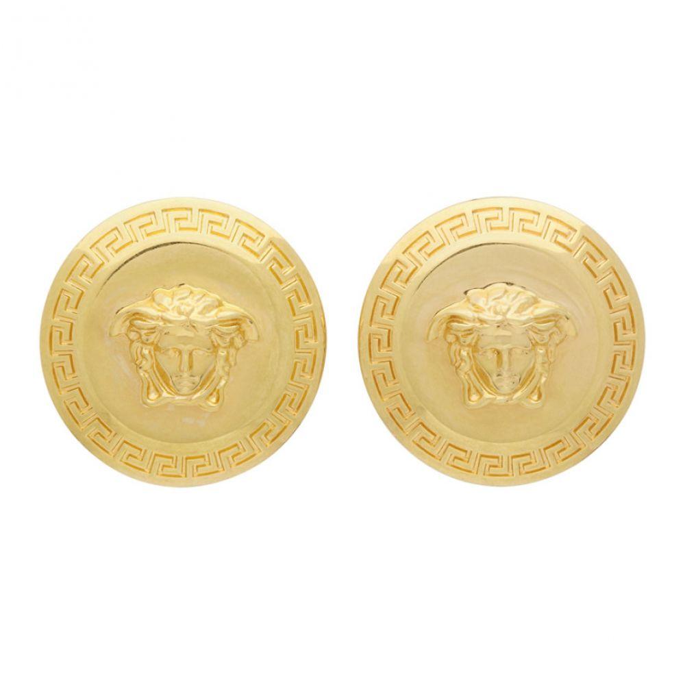 ヴェルサーチ Versace レディース イヤリング・ピアス ジュエリー・アクセサリー【Gold Tribute Coin Earrings】Gold