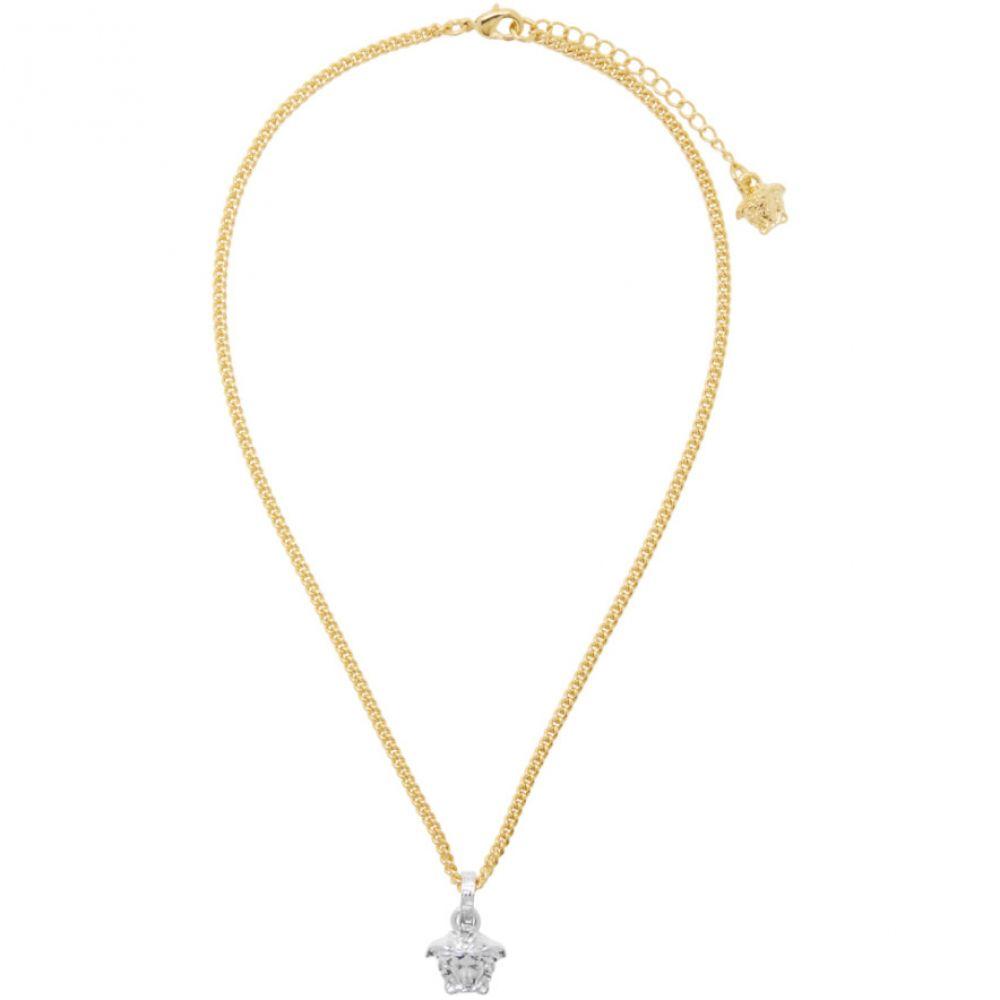 ヴェルサーチ Versace レディース ネックレス メデューサ ジュエリー・アクセサリー【Gold & Silver Medusa Pendant Necklace】Silver/Gold