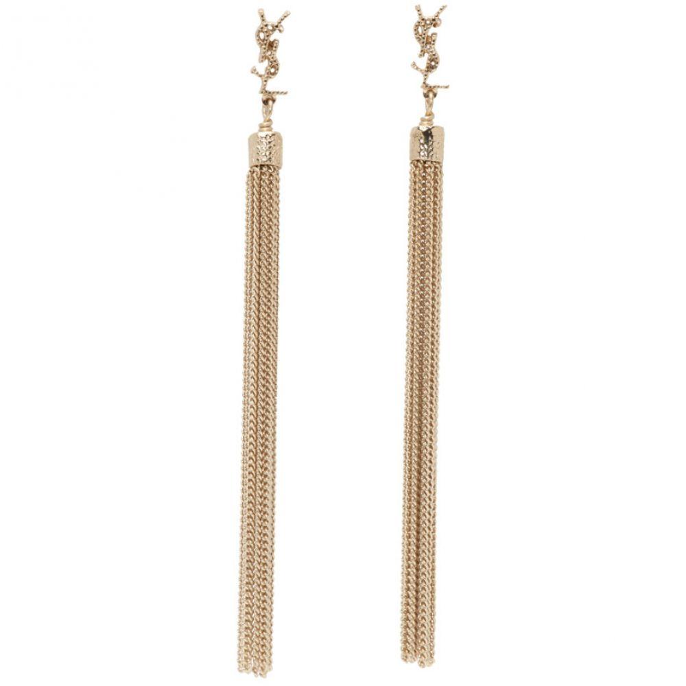 イヴ サンローラン Saint Laurent レディース イヤリング・ピアス ジュエリー・アクセサリー【Gold Loulou Tassel Earrings】Pale gold