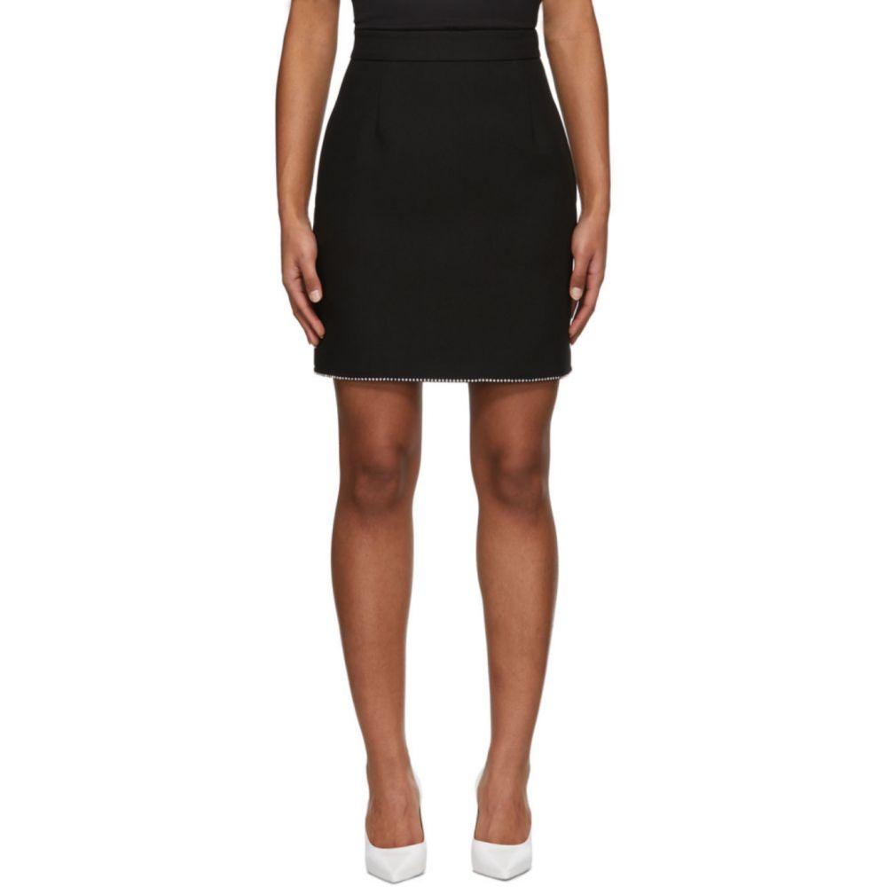 エムエスジーエム MSGM レディース ミニスカート スカート【Black Crystal Detailing Skirt】Black