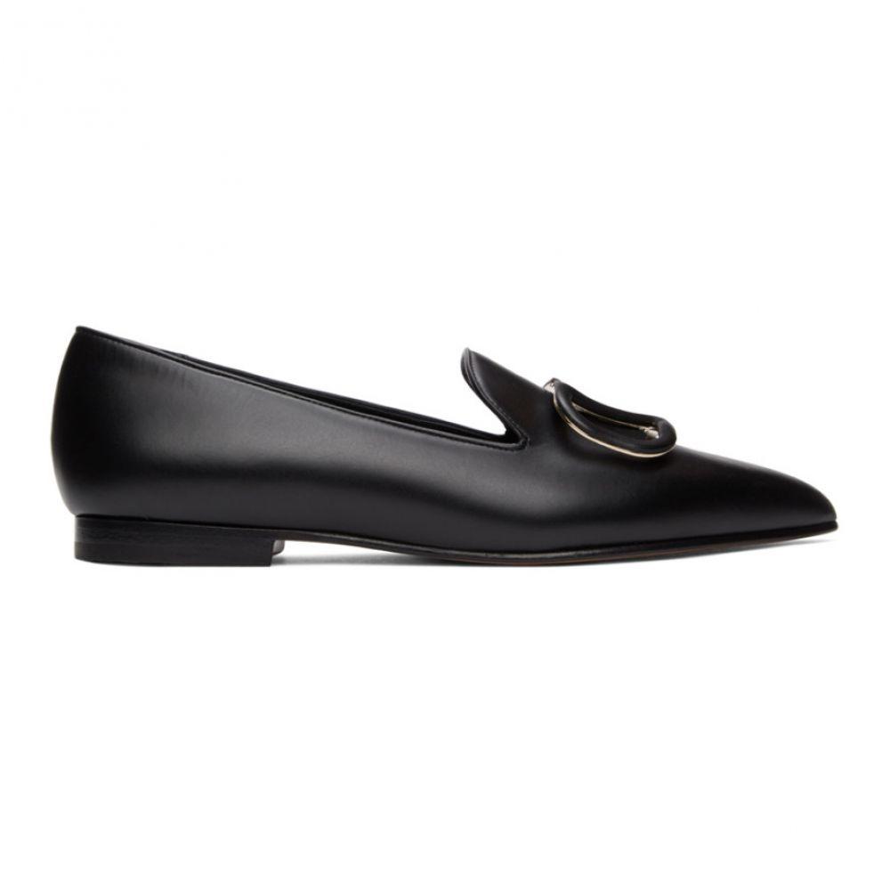 ヴァレンティノ Valentino レディース ローファー・オックスフォード シューズ・靴【Black Garavani VLogo Loafers】Nero