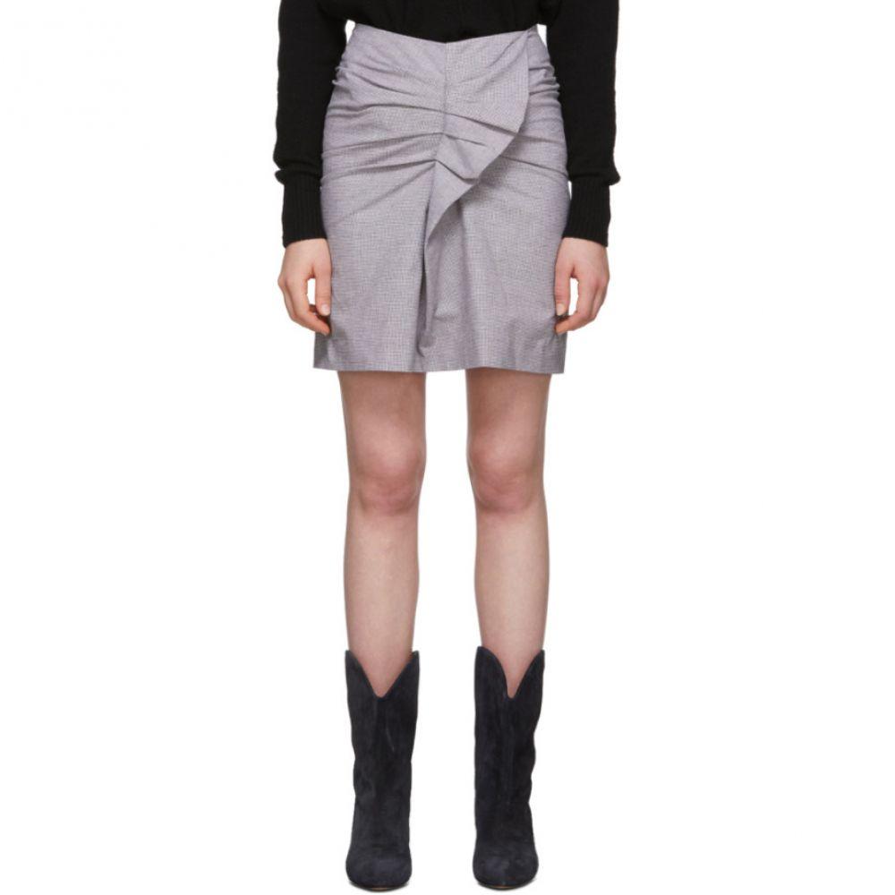 イザベル マラン Isabel Marant Etoile レディース ひざ丈スカート スカート【Pink & Black Linen Ines Skirt】Lavender