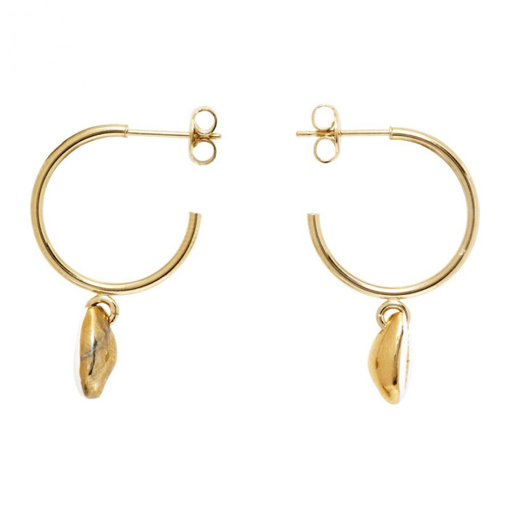 イザベル マラン Isabel Marant レディース イヤリング・ピアス ジュエリー・アクセサリー【White & Gold New Amer Earrings】Ecru/Gold