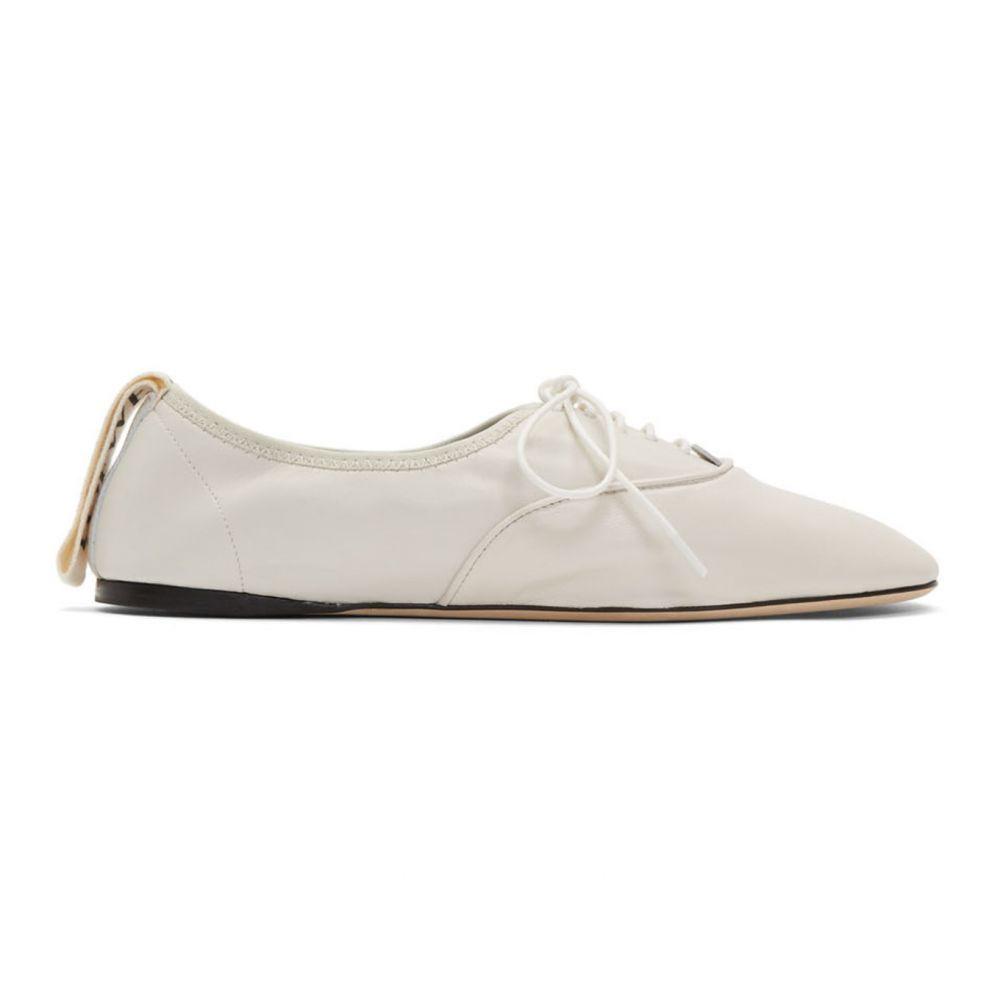 ロエベ Loewe レディース ローファー・オックスフォード シューズ・靴【White Soft Derbys】Soft white