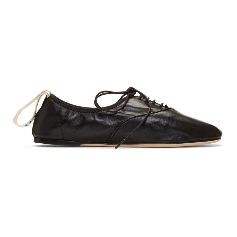 ロエベ Loewe レディース ローファー・オックスフォード シューズ・靴【Black Soft Derbys】Black
