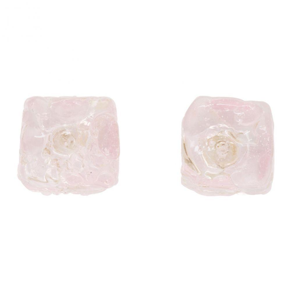 マリアム ナッシアー ザデー Maryam Nassir Zadeh レディース イヤリング・ピアス ジュエリー・アクセサリー【Pink Cube Earrings】Pink