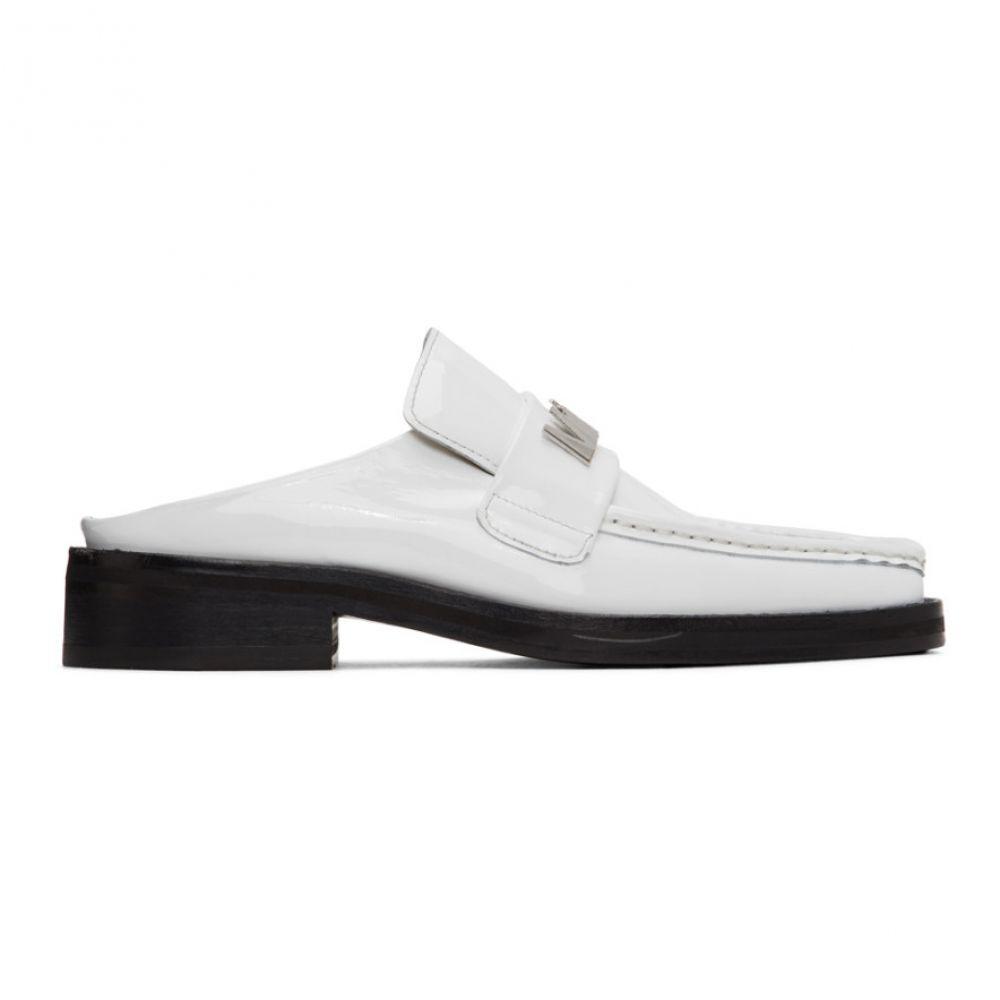 マーティン ローズ Martine Rose レディース ローファー・オックスフォード シューズ・靴【SSENSE Exclusive White Patent Leather Loafers】White