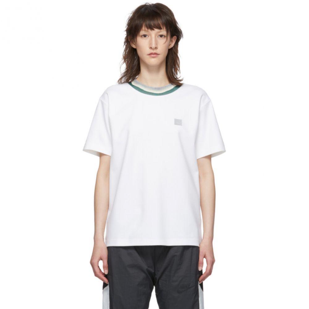 アクネ ストゥディオズ Acne Studios レディース Tシャツ トップス【White Elsom Face T-Shirt】Optic white