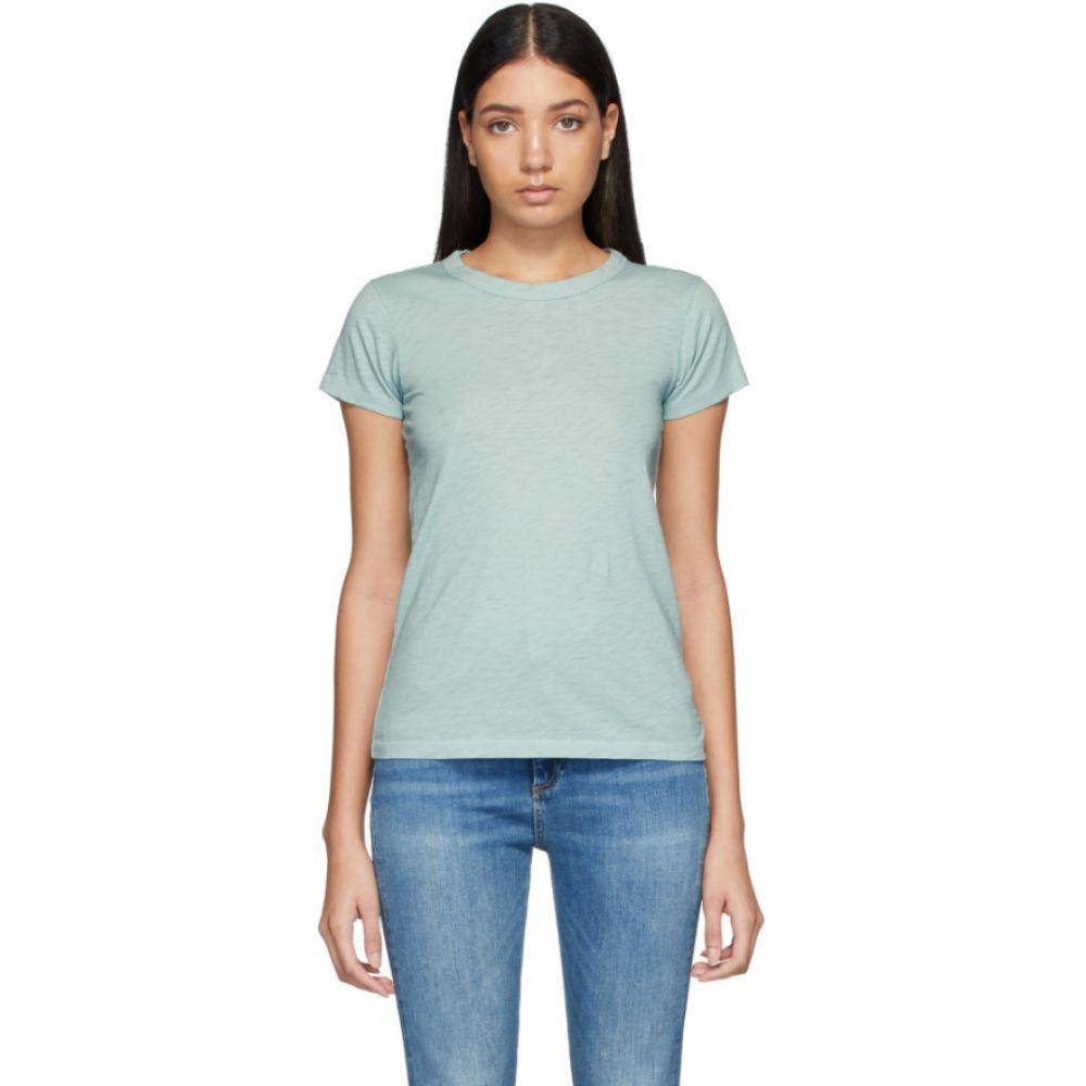 ラグ&ボーン rag & bone レディース Tシャツ トップス【Blue Pima Cotton 'The Tee' T-Shirt】Seafoam blue