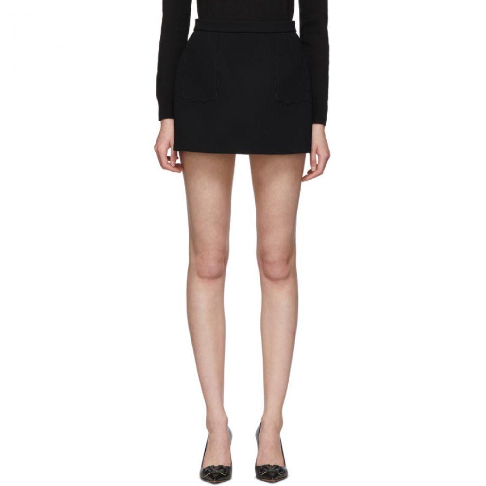 ヴァレンティノ RED Valentino レディース ミニスカート スカート【Black Scallop Miniskirt】Black