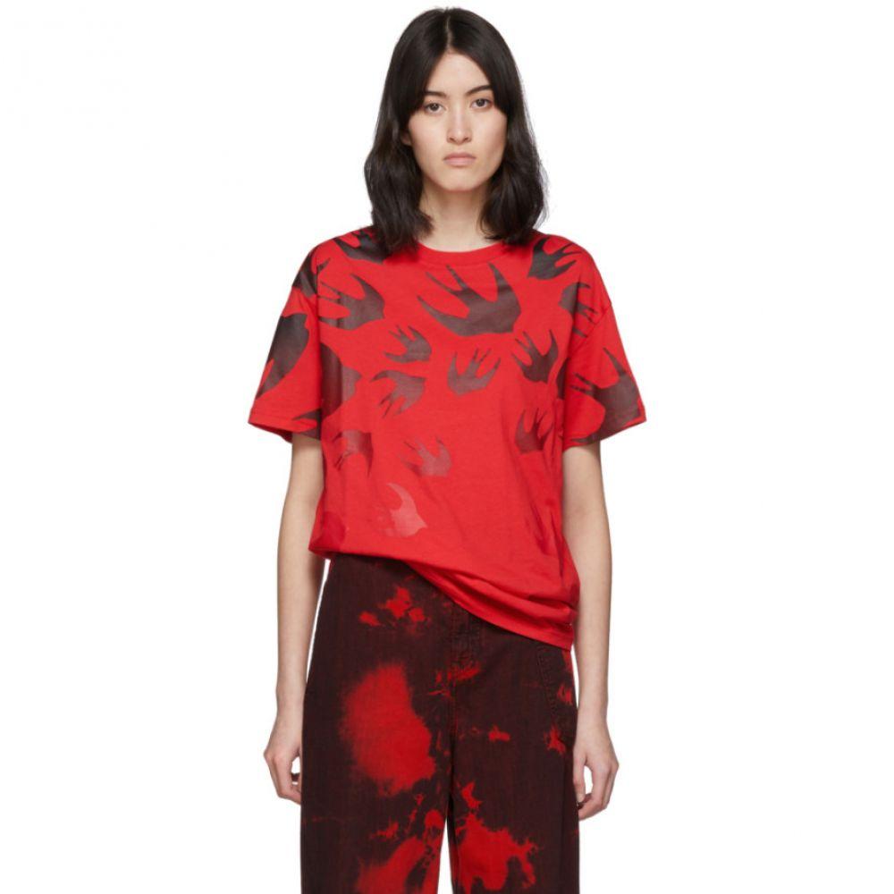 アレキサンダー マックイーン McQ Alexander McQueen レディース Tシャツ トップス【Red Swallow Boyfriend T-Shirt】Rouge
