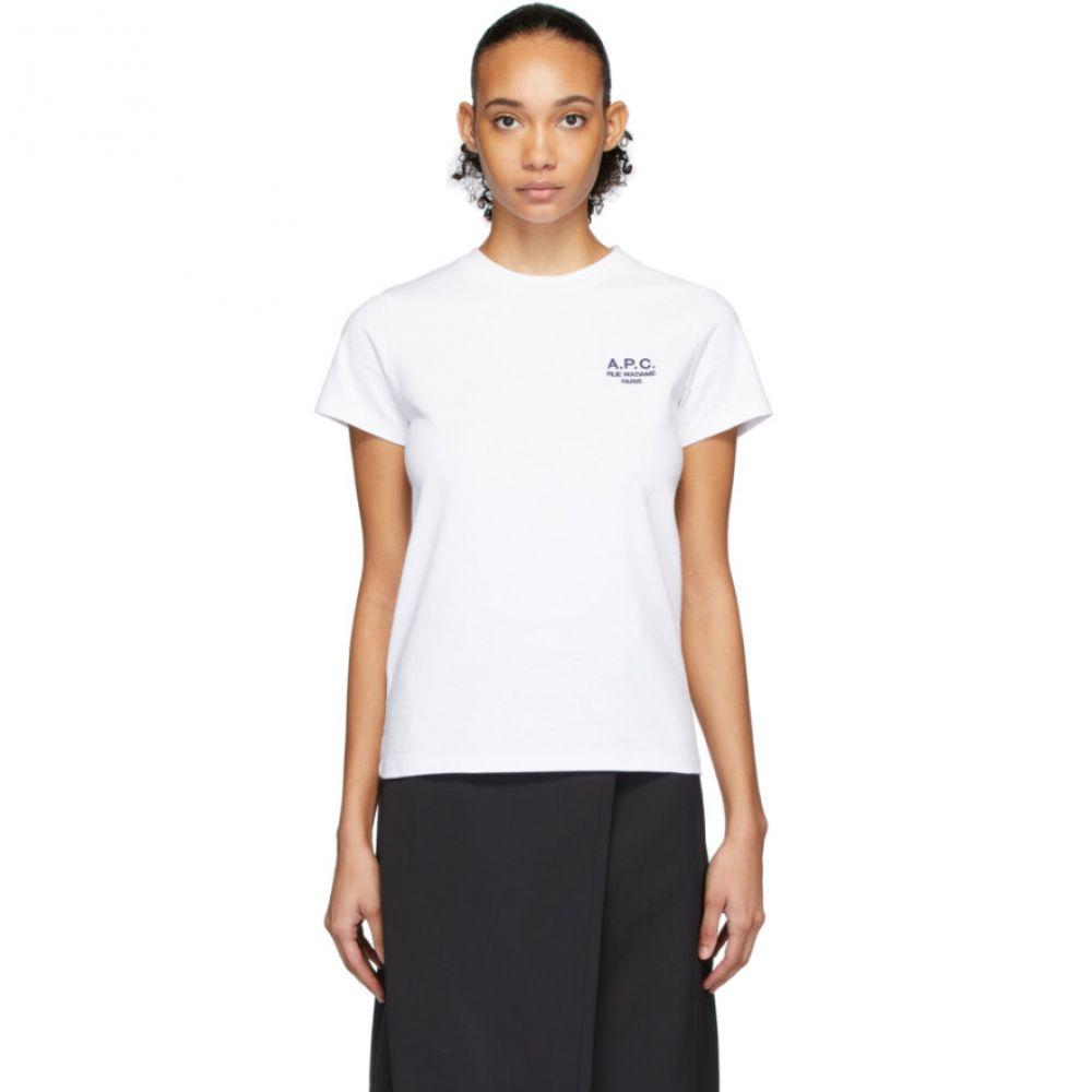 アーペーセー A.P.C. レディース Tシャツ トップス【White Denise T-Shirt】White