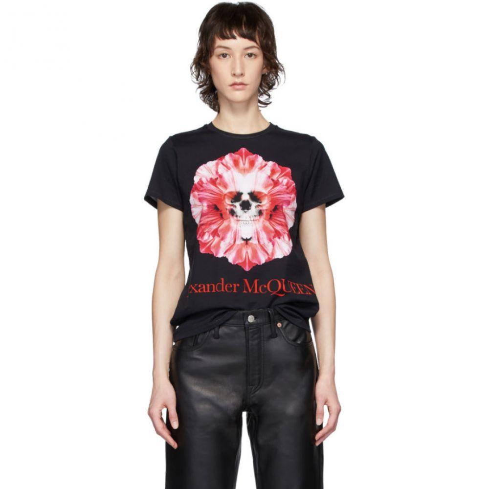 アレキサンダー マックイーン Alexander McQueen レディース Tシャツ トップス【Black Skull Flower T-Shirt】Black
