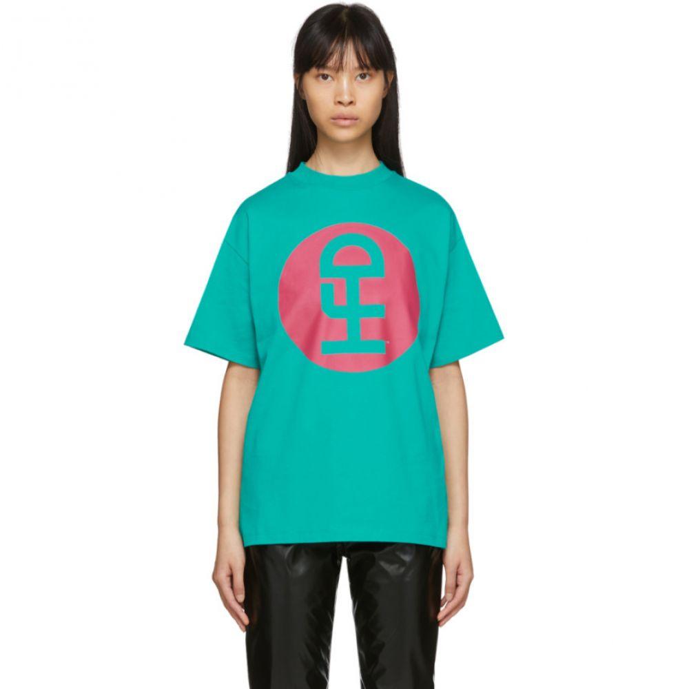 ハニー ファッキング ディジョン Honey Fucking Dijon レディース Tシャツ トップス【Green Large Logo T-Shirt】Green