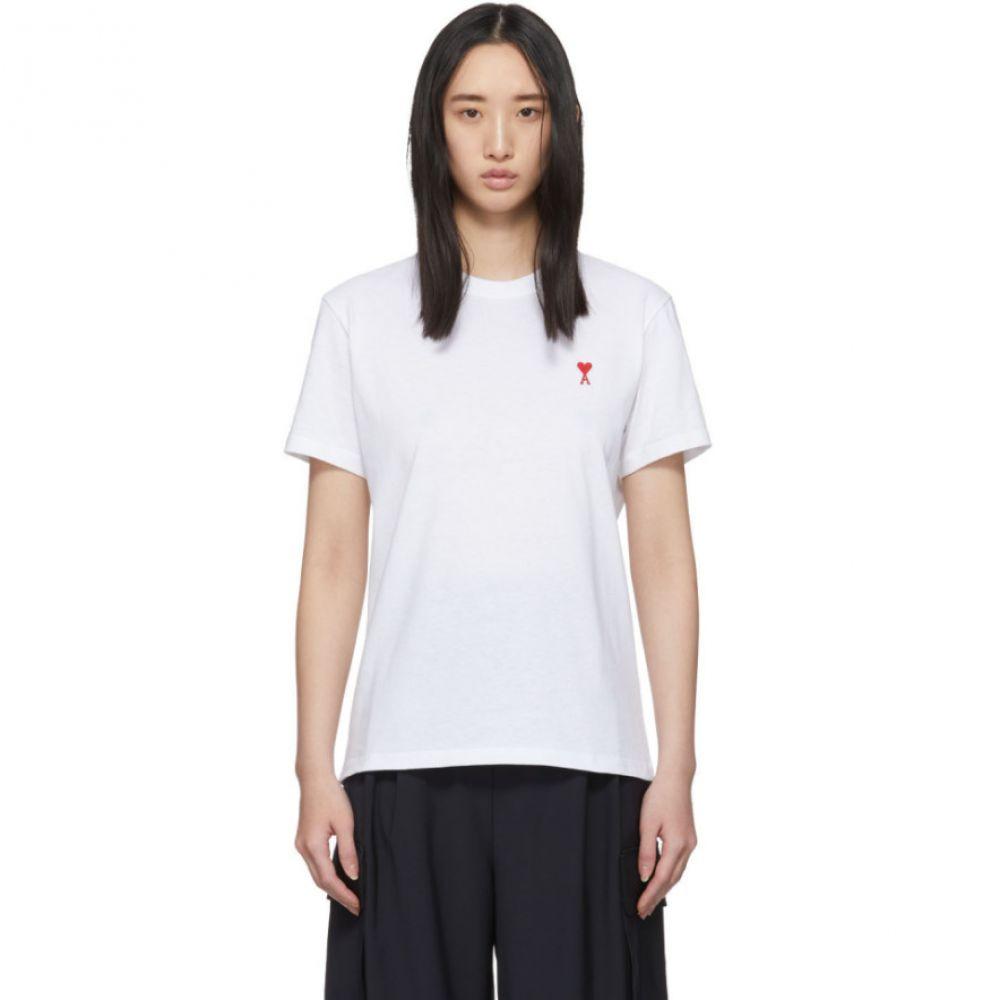 アミアレクサンドルマテュッシ AMI Alexandre Mattiussi レディース Tシャツ トップス【White Ami De Coeur T-Shirt】White