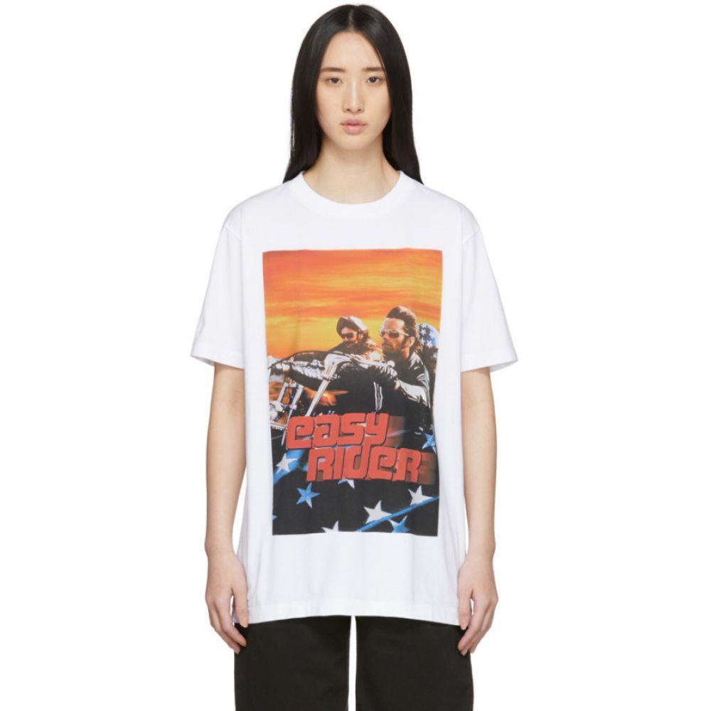 マルセロバーロン Marcelo Burlon County of Milan レディース Tシャツ トップス【White Easy Rider T-Shirt】White/Red