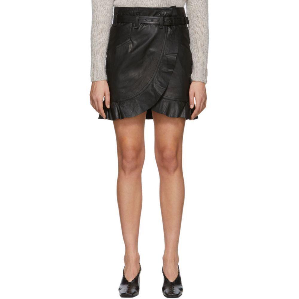 イザベル マラン Isabel Marant Etoile レディース ミニスカート スカート【Black Leather Qing Miniskirt】Black