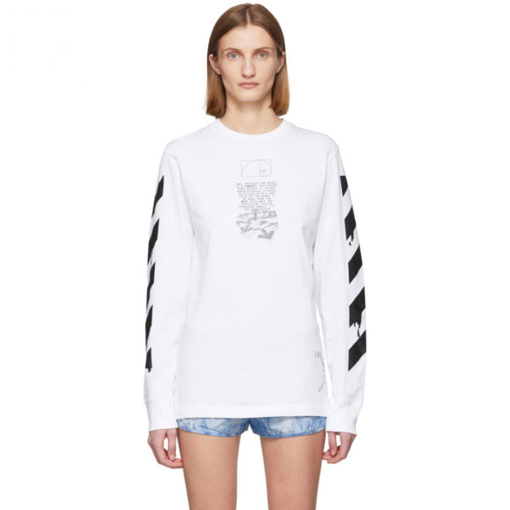 オフホワイト Off-White レディース Tシャツ トップス【White Pencil Arrows T-Shirt】White/Black