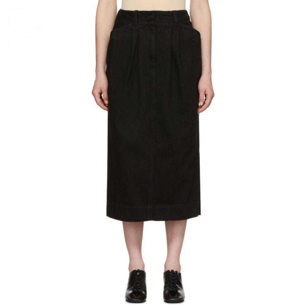 ルメール Lemaire レディース ひざ丈スカート デニム スカート【Black Denim Baggy Skirt】Black